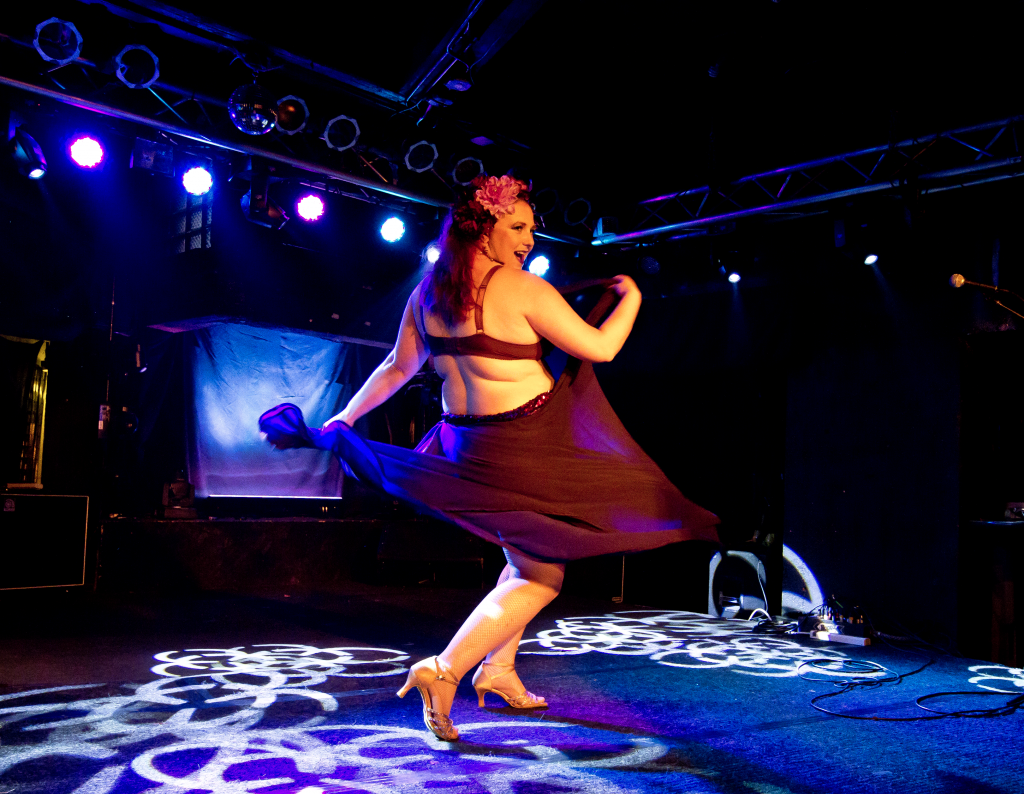 """My """"Start Wearing Purple"""" act that debuted at Rude Revue in Kansas City and got accepted to The Great Burlesque Exposition for 2017. Photo by John Blair"""